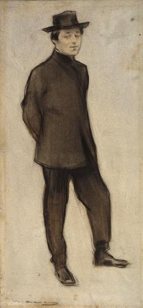 Ramon Casas, Retrat d'Isidre Nonell, cap a 1897-1899