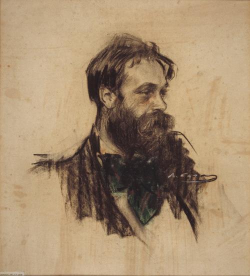 Ramon Casas, Retrat de Joaquim Mir, cap a 1901