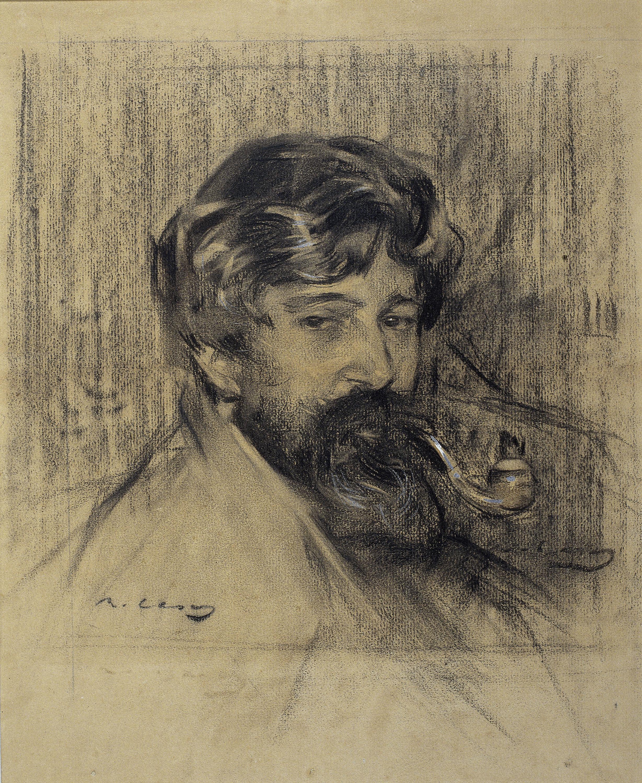Ramon Casas, Portrait of Santiago Rusiñol, around 1900