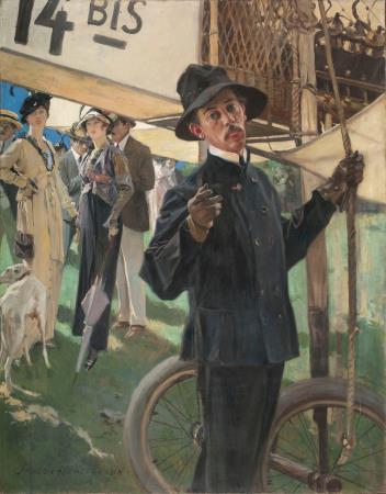 François Flameng, Retrat de l' aeronauta Alberto Santos-Dumont, 1914