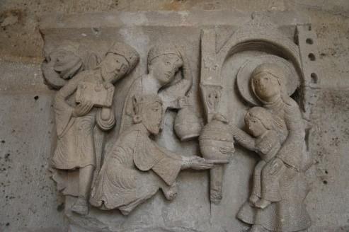 Adoració dels Mags. Capitell de Saint-Lazare d'Autun