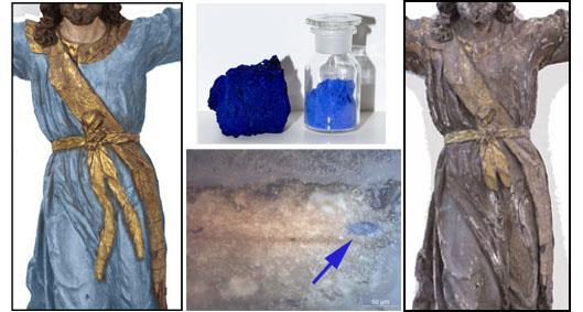 Hipótesis de reconstrucción cromática de la túnica de la Santa Librada