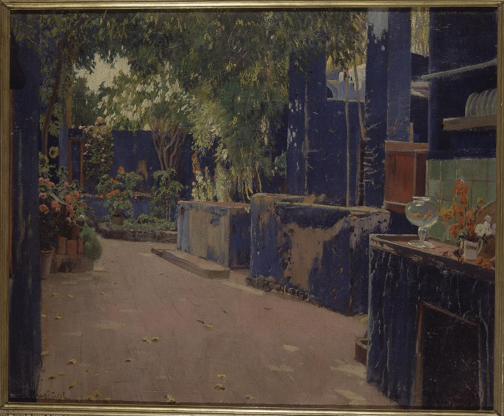 Santiago Rusiñol, Patio azul, 1913
