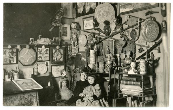 Taller-estudi del pintor i dibuixant Llorenç Brunet, 1903-1917, Arxiu Fotogràfic de Barcelona
