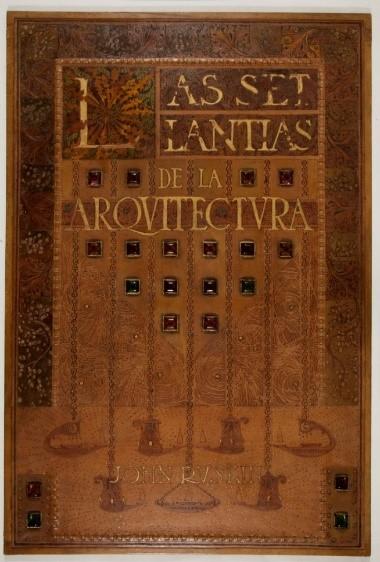 Tapes de relligadura en cuir pirogravat, per al llibre de John Ruskin, 1911.