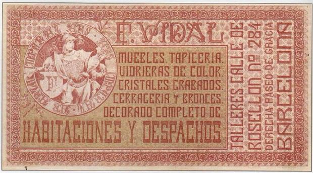Tarjeta comercial de la casa F. Vidal.
