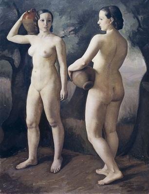 Teresa Condeminas. Camino de la fuente (1935). Museu Nacional d'Art de Catalunya.