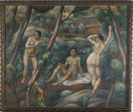 Joaquim Sunyer, Tres nus al bosc, Sitges 1913