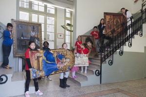 Nens i nenes de l'Escola Miquel Bleach (Projecte Tàndem)
