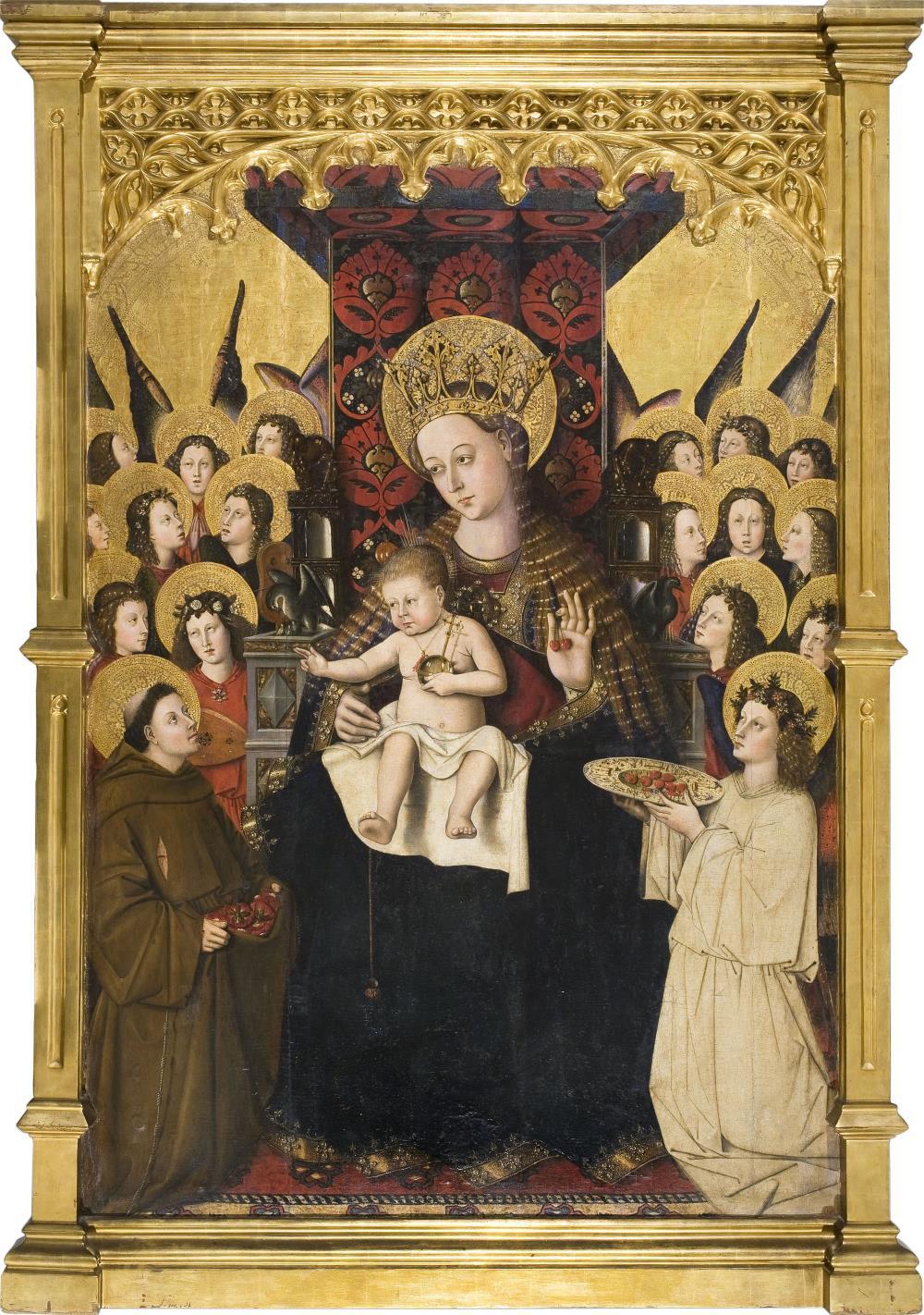 Mestre de la Porciúncula, Verge de la Porciúncula, cap a 1450