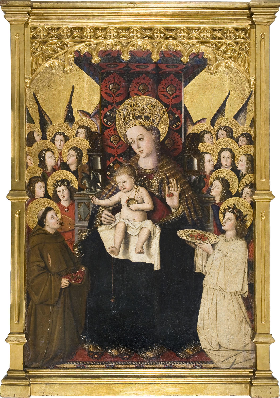 Maestro de la Porciúncula, Virgen de la Porciúncula, hacia 1450