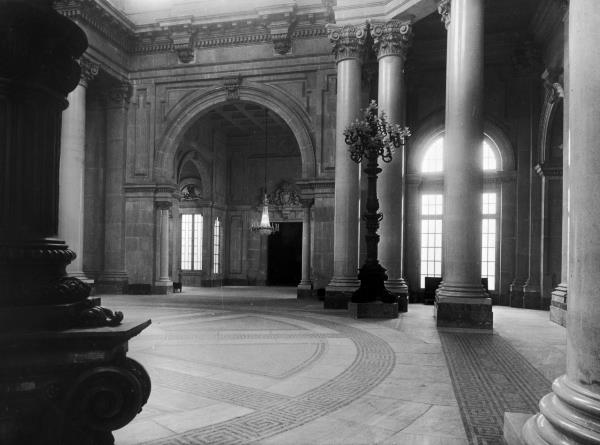 The first floor hall