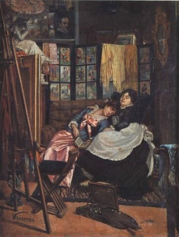 Vicenç Oliveres, Estudi del pintor, sense data. Museu Municipal de Nàutica del Masnou