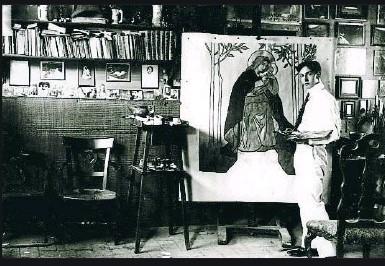 Vidal Ventosa retratat per Francesc Serra. Arxiu del Museu Nacional d'Art de Catalunya