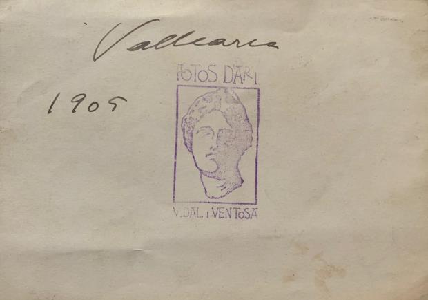 Vidal Ventosa. Vista de Vallcarca, 1905. Museu Nacional d'Art de Catalunya. Revers