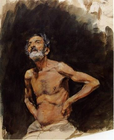 Marià Fortuny, Old man, c. 1870. Private collection