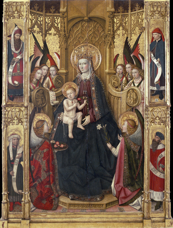 Jaume Huguet, Virgen, hacia 1450