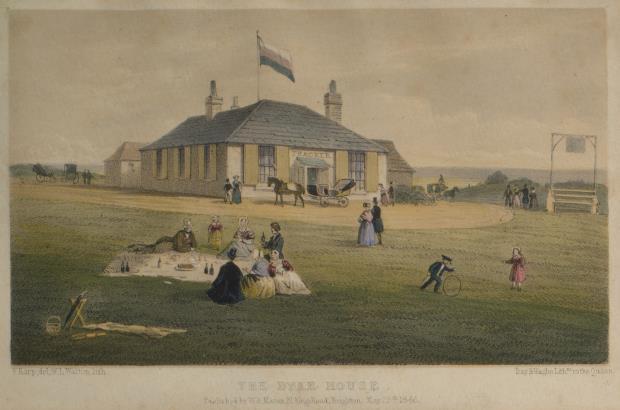 Vista de la Casa Dyke, Frederick Earp, 1846 © Royal Pavilion & Museums, Brighton & Hove