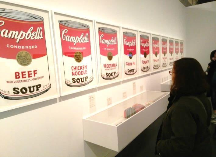 Visitandola exposición Warhol. El arte mecánico. Caixaforum