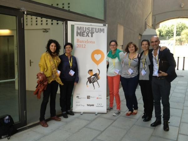 Amb els becaris del postgrau, voluntaris del MuseumNext Barcelona 2012