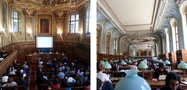 Auditorium and library of the Sorbonne University. Fotos: Conxa Rodà