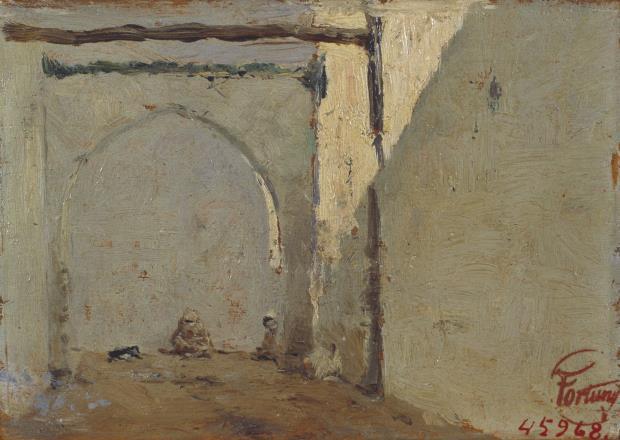 Marià Fortuny, Calle marroquí, hacia 1860-1862
