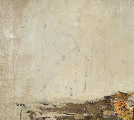 Detall de la figura que apareix a la pintura Carmen Bastián