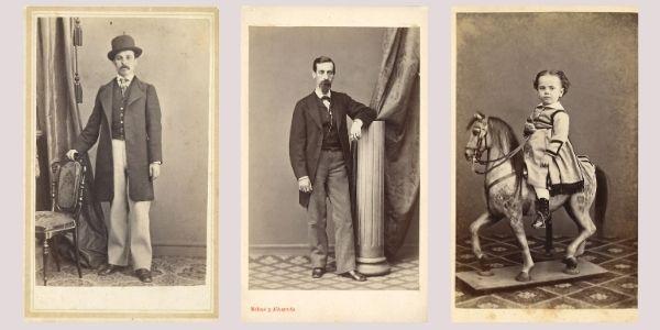 Autoria i datació dels retrats de les cartes de visite a partir d'elements de l'atrezzo