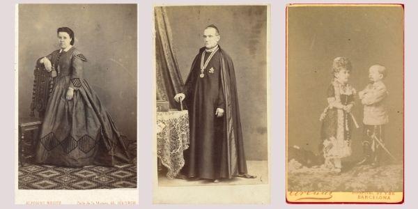 Diferents ecenes dels retrats de les cartes de visite