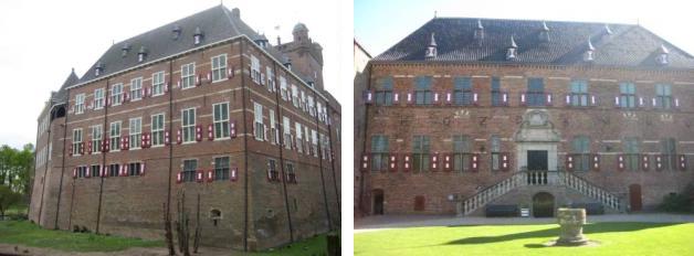 Castell de Huis Bergh. Vistes de l'exterior i del pati central