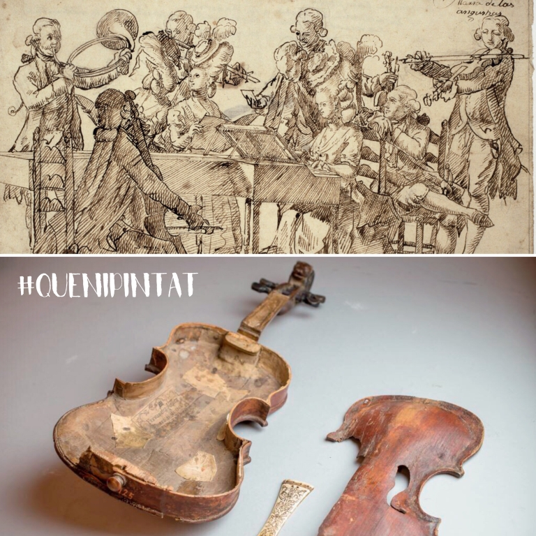 Violin and The Academy of theater in Lent. Concert of voices and instruments