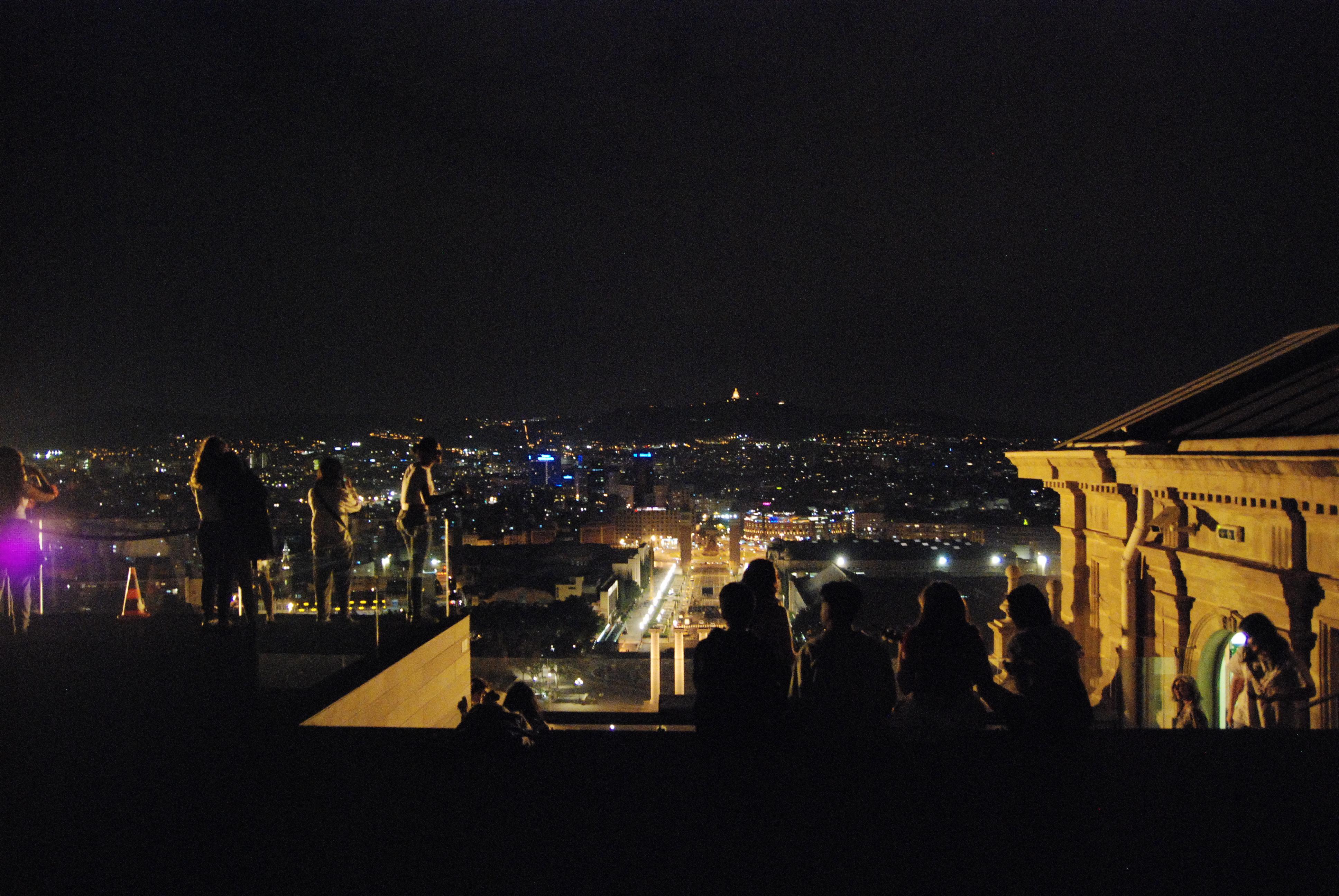el MNAC de nit