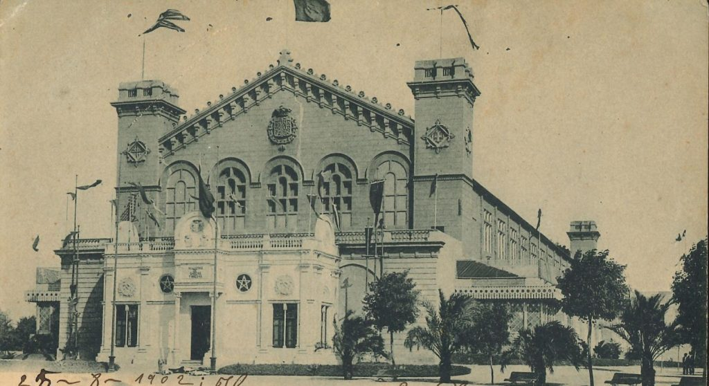 The now missing Palau de la Indústria where the Museum of Artistic Reproductions was located