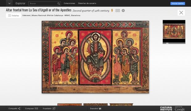 Museu Nacional d'Art de Catalunya_Google Art Project. Frontal Seu d'Urgell, s. XII