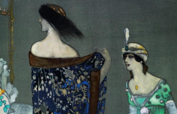 Xavier Gosé, fragment de Le manteau bleu, c.1912 (Museu d'Art Jaume Morera, LLeida)