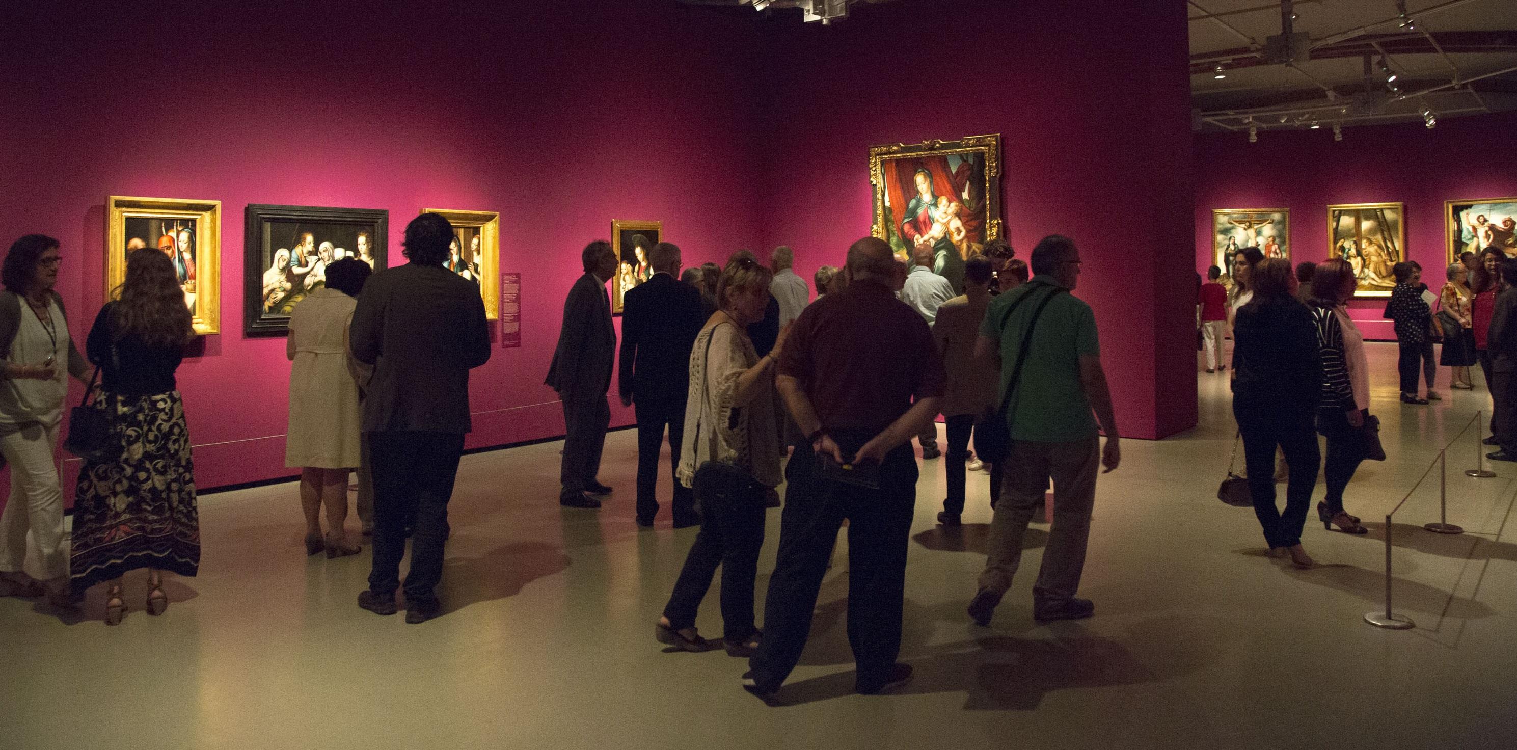 """Inauguració de l'exposició """"El Divino Morales"""""""