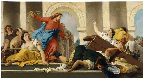 Giandomenico Tiepolo. Expulsion of the Money-changers from the Temple 1750-1753,