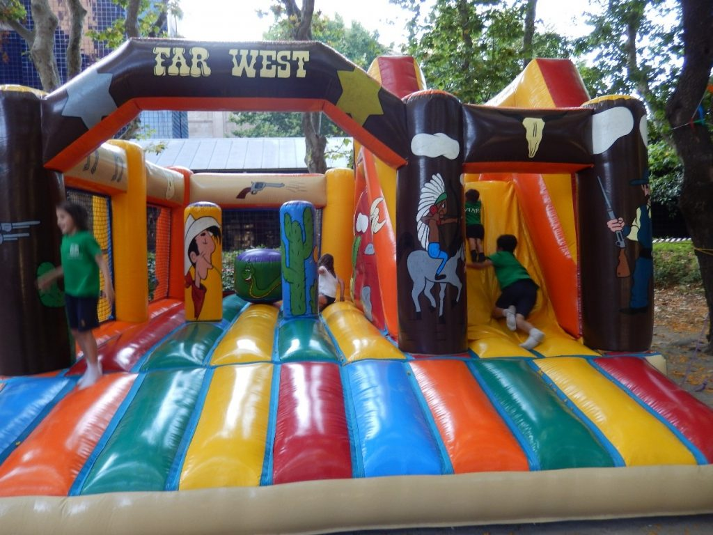 The inflatable castle