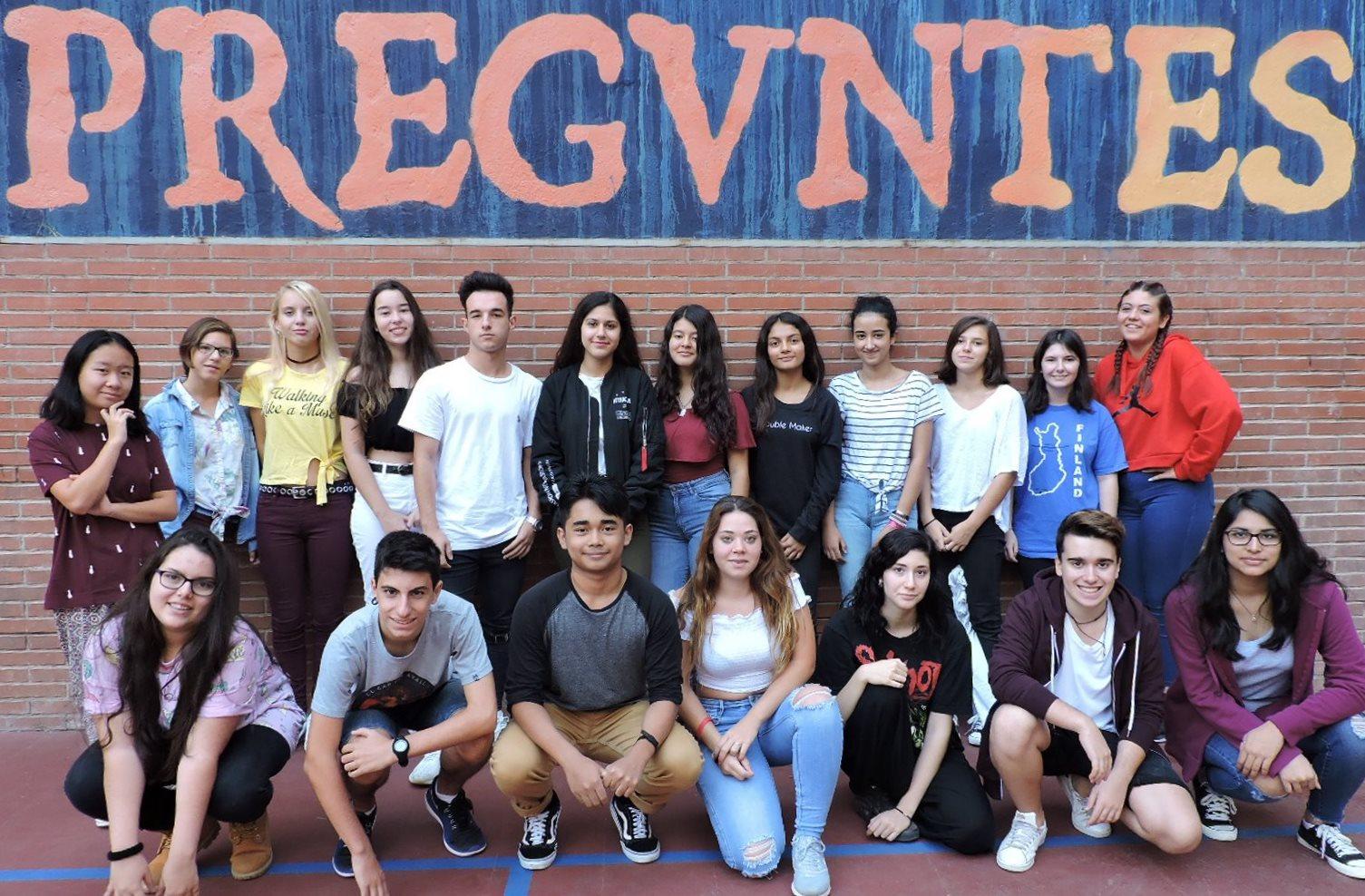 Alumnes de l'Institut Juan Manuel Zafra