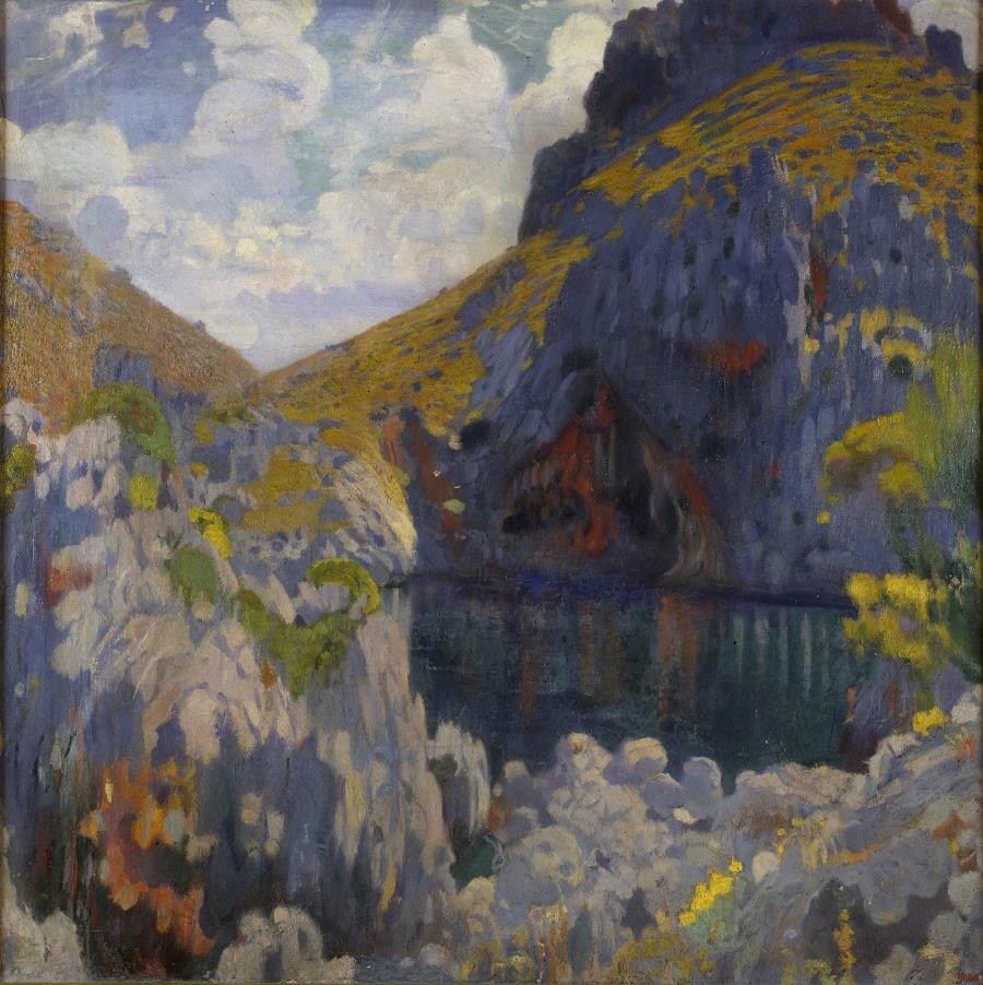 Joaquim Mir, Gold and Azure, c. 1902