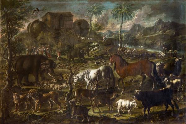 Cajetan Roos, L'arca de Noè reposa al mont Ararat, cap a 1720
