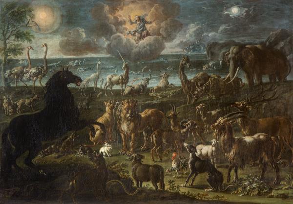 Cajetan Roos, La creació dels animals, cap a 1720