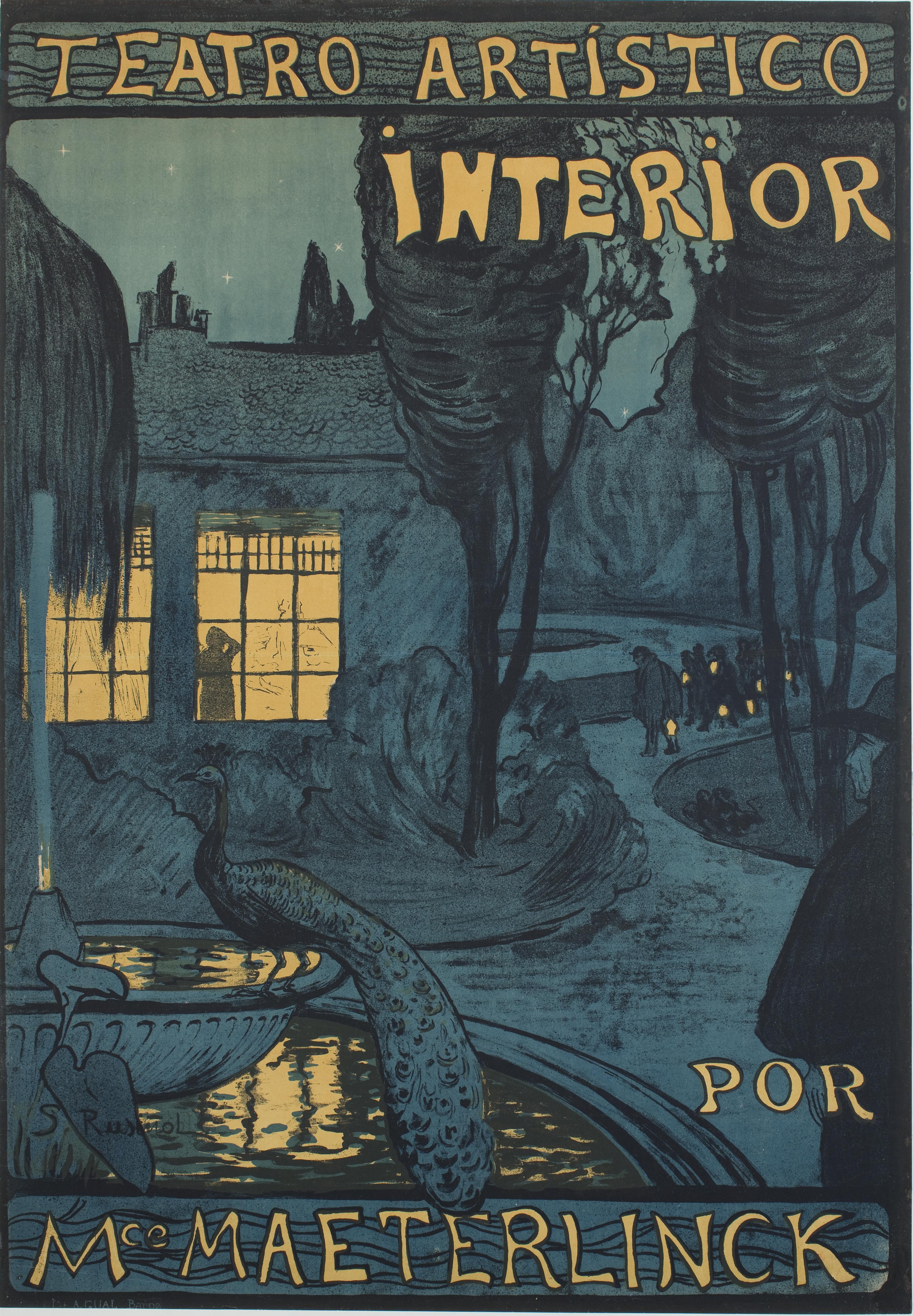 Santiago Rusiñol, Teatro artístico interior por Mce Maeterlinck, 1899