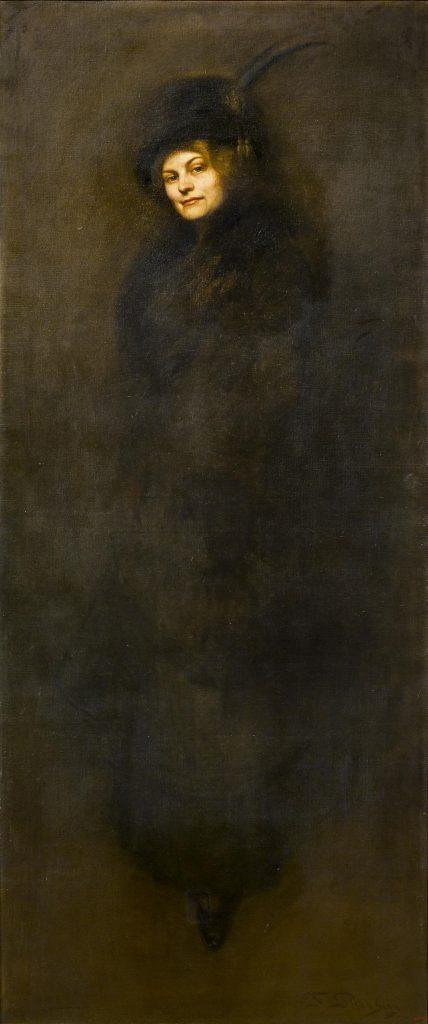 Francesc Pausas i Coll, Retrat de Maria Sampere, dona del pintor, 1911
