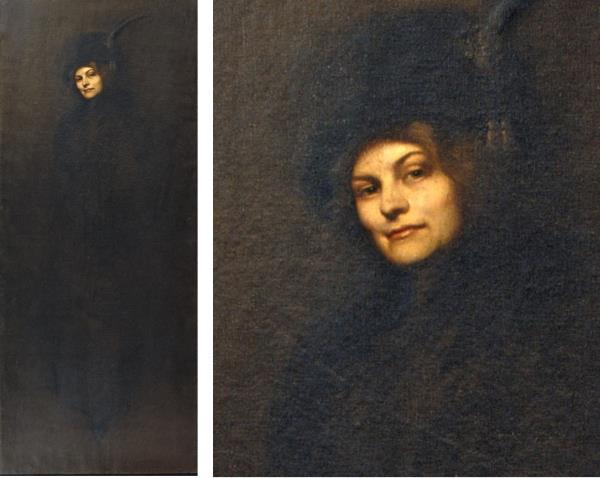 Francesc Pausas, Portrait of Maria Sampere, the painter's wife, 1911.