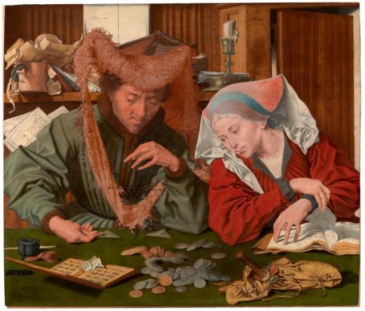 Marinus van Reymerwalle. El canvista i la seva muller, 1539. Museo Nacional del Prado.