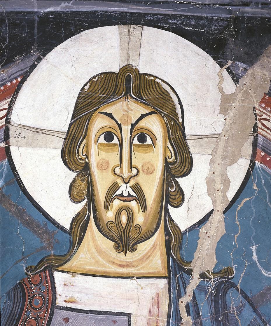 Maestro de Taüll, Ábside de Sant Climent de Taüll, hacia 1123. Detalle