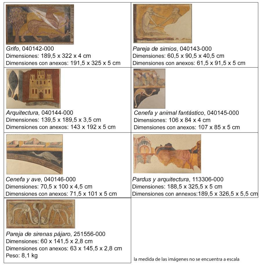 Obras del Museu Nacional. Gráfica: Paz Marquès