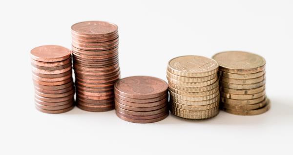 Pila de monedes d'euro