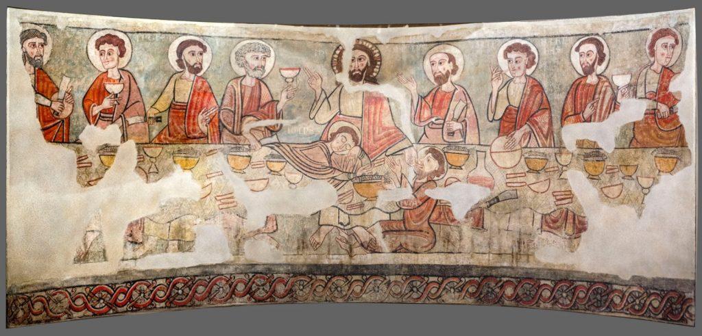 Pintura mural de l'antiga capella de Santa Catalina de la Catedral de la Seu d'Urgell. Font: Wikimedia Commons